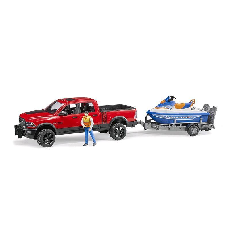 Ram 2500 Power Wagon mit Anhänger Spielzeugautos