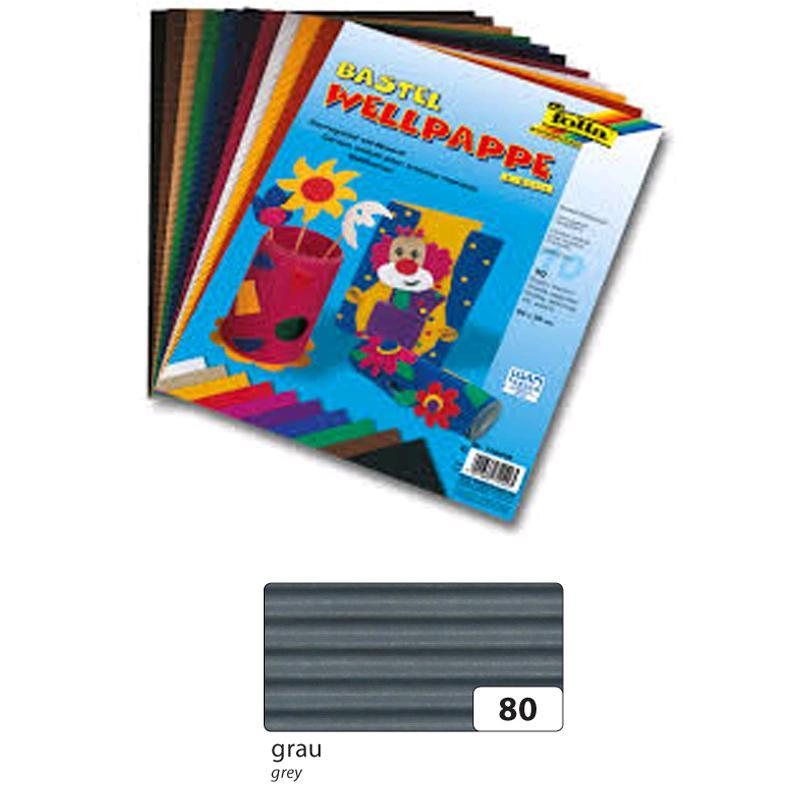 folia 741080 E-Wellpappe 10 Bogen grau 50x70cm
