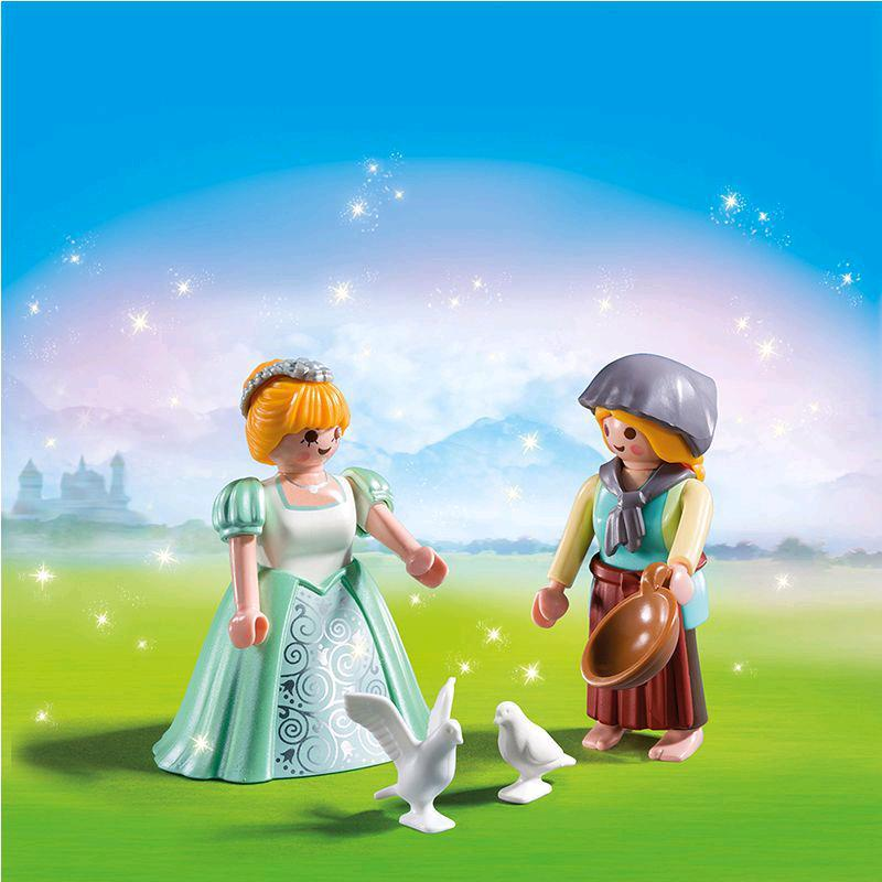 playmobil® duo pack prinzessin und magd 6843  spar toys
