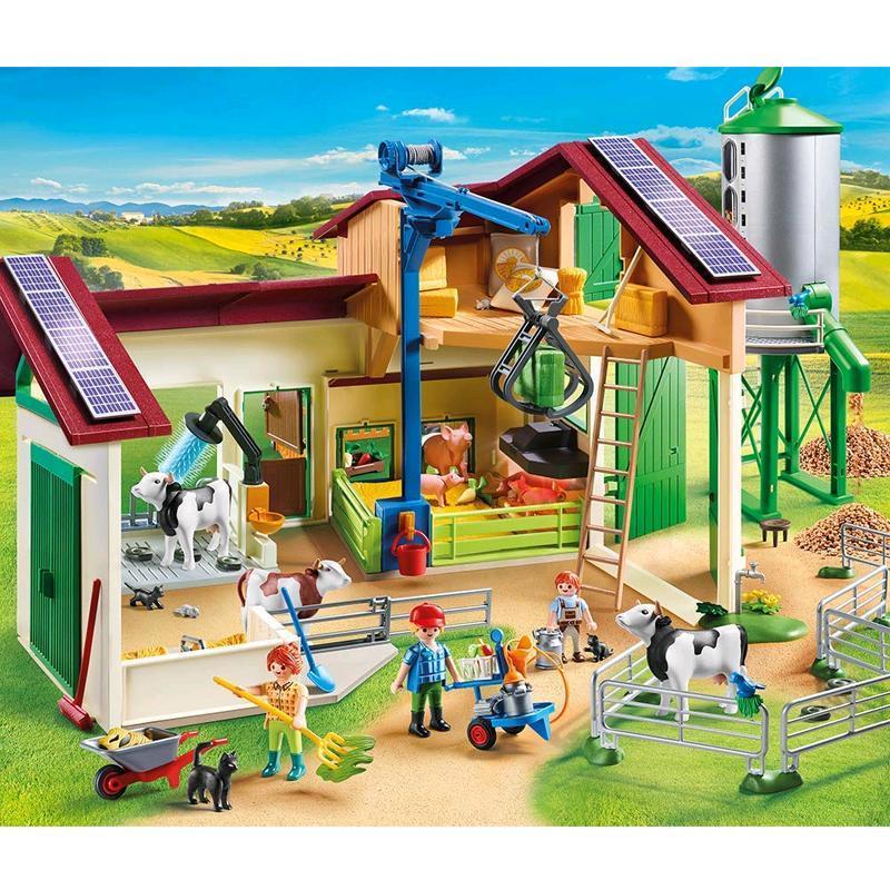 playmobil® großer bauernhof mit silo 70132  spar toys